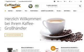 Coffeefair Webseiten Screenshot