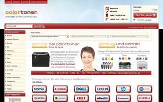Colortoner Webseiten Screenshot