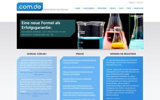 com.de Webseiten Screenshot