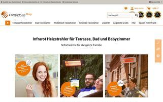 comfortsun-shop.de Webseiten Screenshot