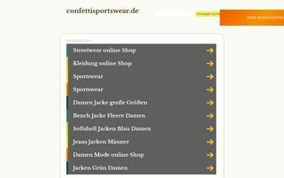 confettisportswear.de Webseiten Screenshot