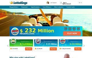 CongaLotto Webseiten Screenshot
