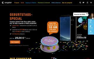 Congstar Webseiten Screenshot