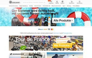 CoolShop Webseiten Screenshot