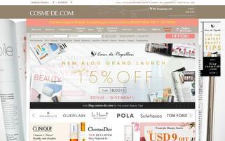 Cosme-De.com Webseiten Screenshot