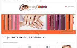 Cosmetrix Webseiten Screenshot