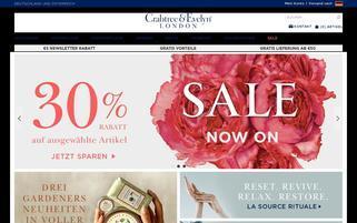 Crabtree & Evelyn Webseiten Screenshot