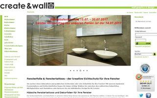 create-and-wall.de Webseiten Screenshot