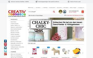 creativ-discount.de Webseiten Screenshot