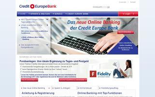 Credit Europe Webseiten Screenshot