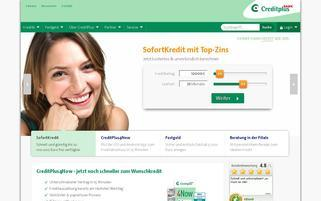 CreditPlus Webseiten Screenshot