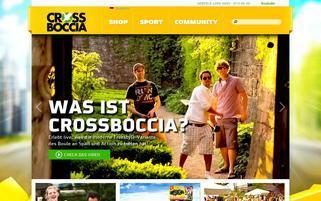 Crossboccia Webseiten Screenshot