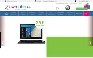 CW-Mobile Webseiten Screenshot