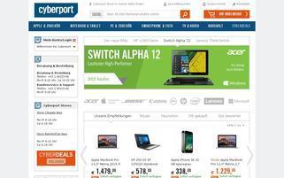 cyberport.at Webseiten Screenshot
