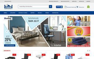 Dänisches Bettenlager Webseiten Screenshot