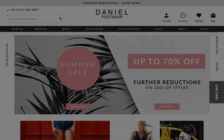 Daniel Footwear Webseiten Screenshot