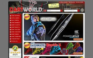 Dartworld Webseiten Screenshot