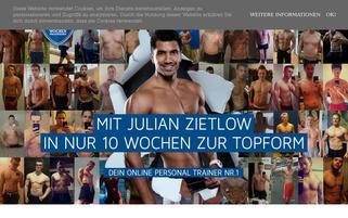 Das 10 Wochenprogramm Webseiten Screenshot