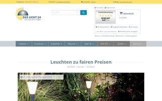 das Licht 24.de Webseiten Screenshot