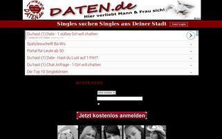 Daten.de Webseiten Screenshot