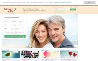 DatingCafe Webseiten Screenshot