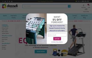Dazadi Webseiten Screenshot