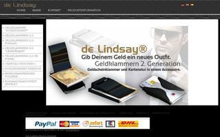 de Lindsay Webseiten Screenshot