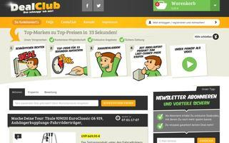 Dealclub Webseiten Screenshot