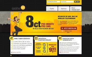 debitel light Webseiten Screenshot