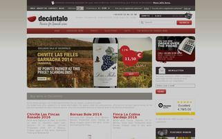 Decantalo Webseiten Screenshot