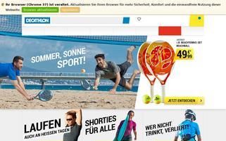 Decathlon Webseiten Screenshot