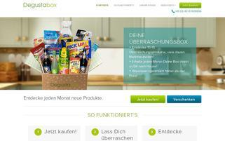 Degustabox Webseiten Screenshot