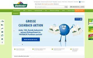 Dehner Webseiten Screenshot