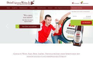 Dein eigener Wein Webseiten Screenshot