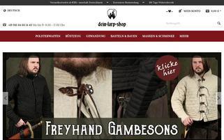 Dein-Larp-Shop Webseiten Screenshot