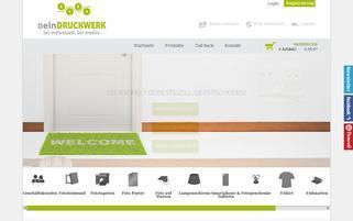 deinDruckwerk Webseiten Screenshot