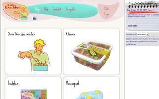 Deine Naschbox Webseiten Screenshot