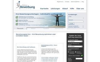 deineBewerbung Webseiten Screenshot