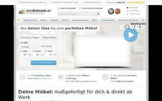 deinSchrank Webseiten Screenshot