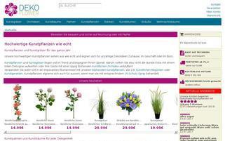 Dekoflower Webseiten Screenshot