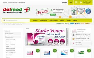 Delmed Webseiten Screenshot