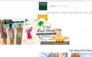 DEPOT Webseiten Screenshot