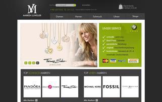 Der Markenjuwelier Webseiten Screenshot