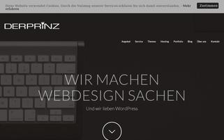 DER PRiNZ Webseiten Screenshot
