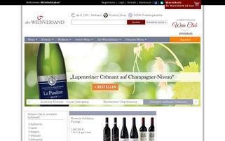 Der Weinversand Webseiten Screenshot