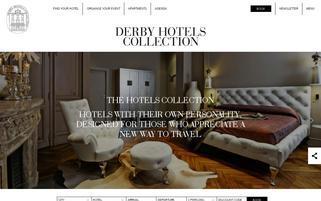 Derby Hotels Webseiten Screenshot
