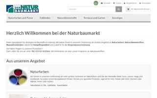dernaturbaumarkt-shop.de Webseiten Screenshot