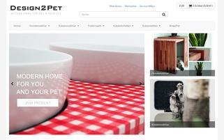 Design2Pet Webseiten Screenshot