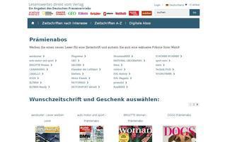 Deutscher Pressevertrieb Webseiten Screenshot