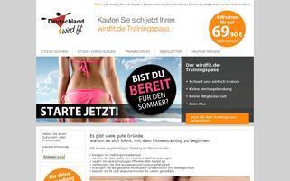Deutschland wird fit Webseiten Screenshot